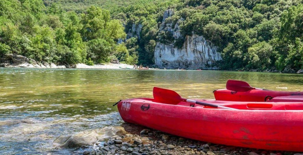 Ardeche Gorge Kanoe Kayak Spots