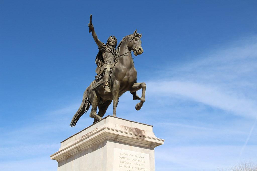 Montpellier - Statue de Louis XIV