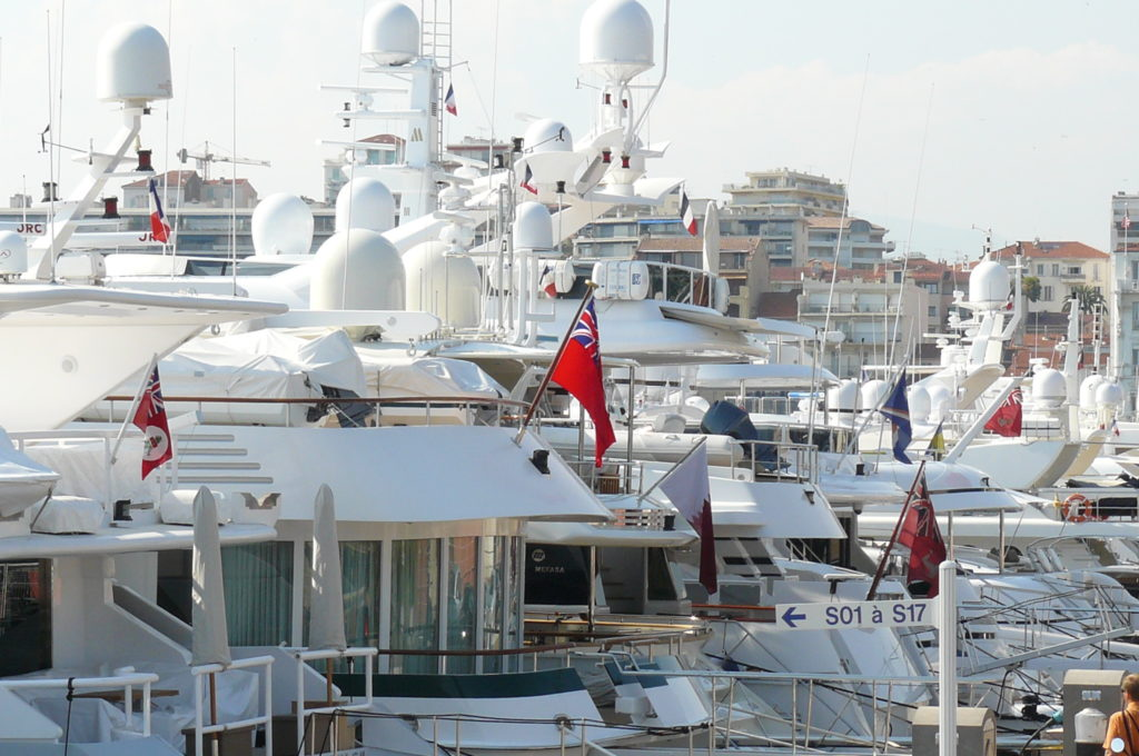 Yachts At Le Vieux Port in Cannes