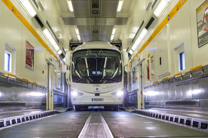 Taking The Channel Tunnel From Paris to London With a Bus