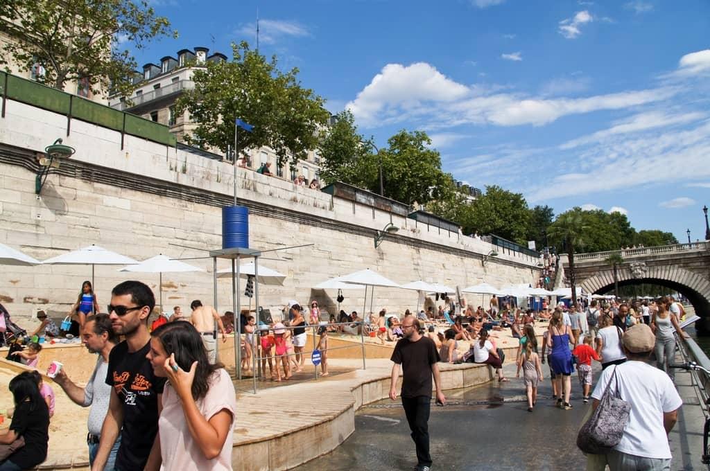 Paris Beaches In August