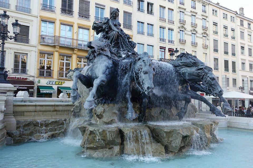 Bartholdi Fountain Lyon, France
