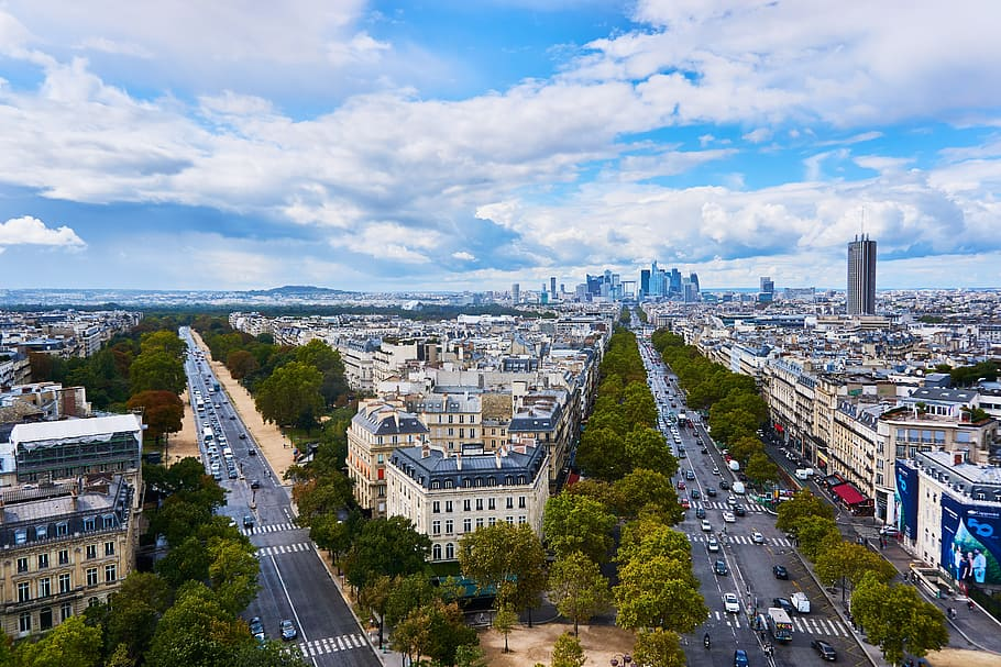 Champs-Elysees Monument In France