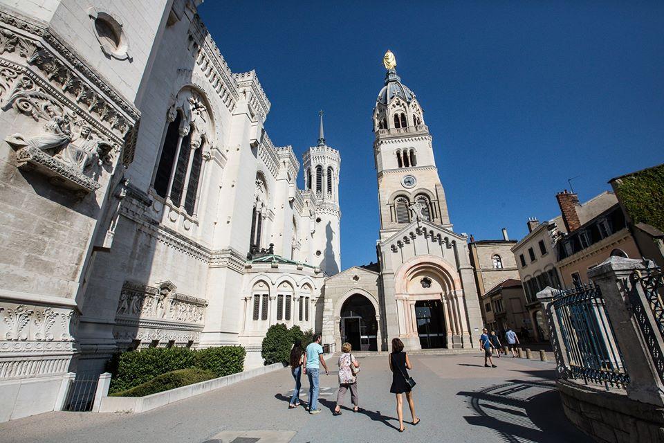 La Basilique Notre Dame de Fourvière in Lyon, France