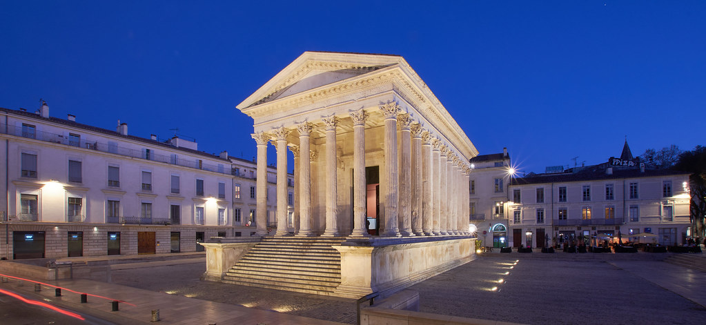 Maison Carree Monuments in Nimes