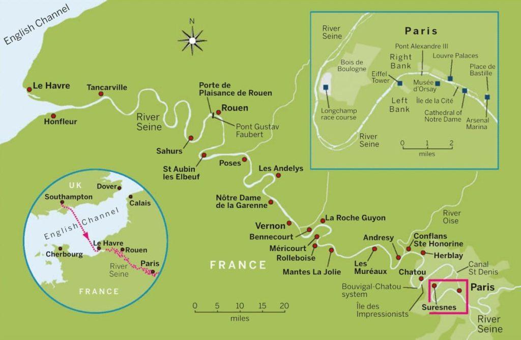 Parijs per bootkaart