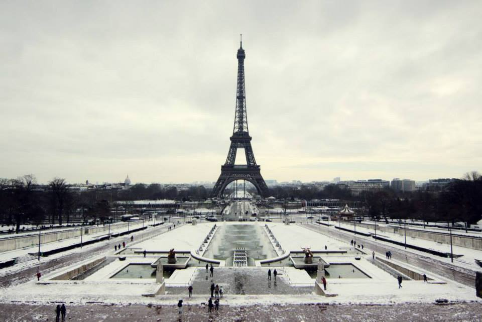 Traveling to Paris in The Winter