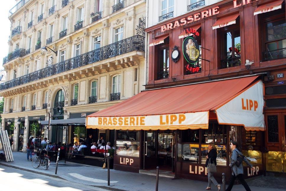 Famous Brasserie Lipp in Paris