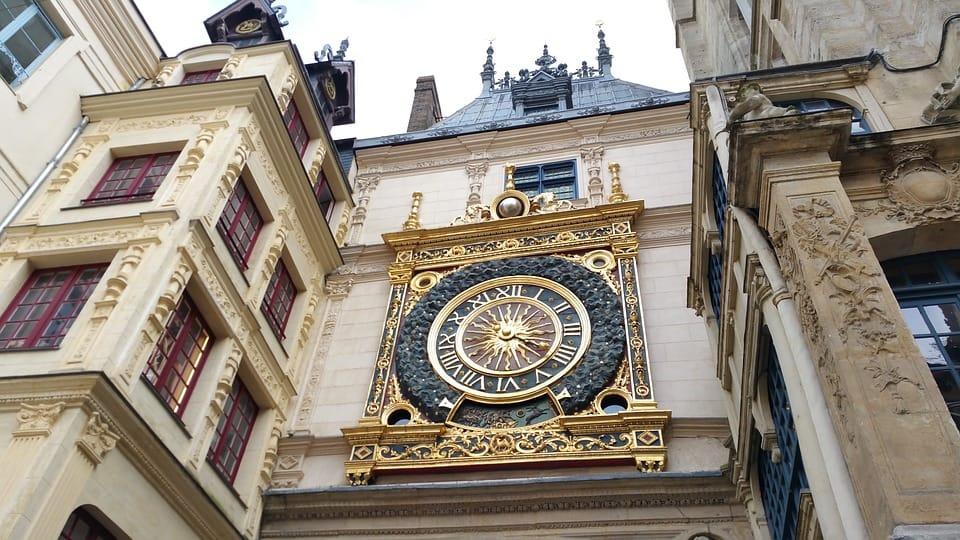 Famous Middle Ages Clock Rouen