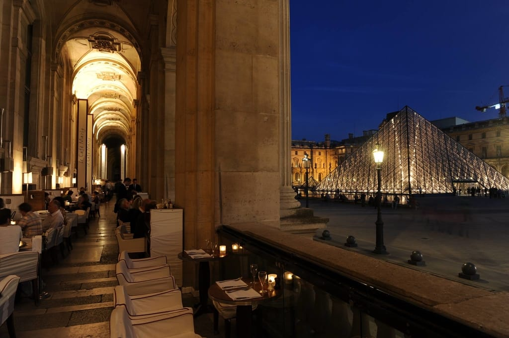 Le Café Marly Near the Louvre in Paris