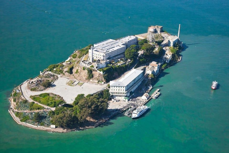 Alcatraz Jail In San Francisco From Above