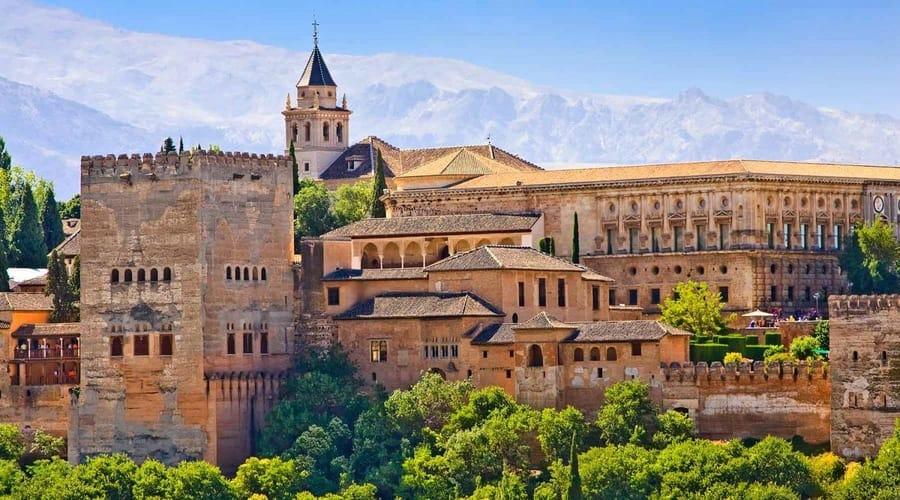 Alhambra and Generalife Gardens, Granada Spain