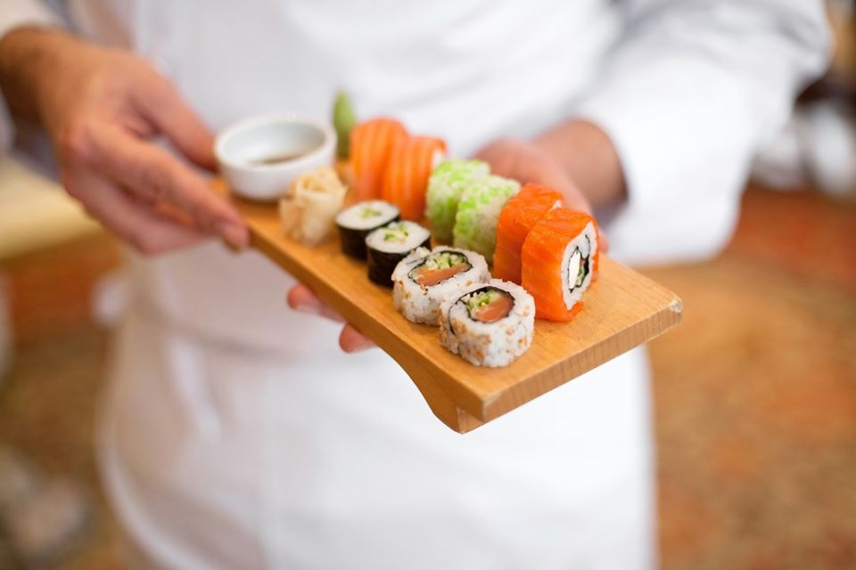 Making Sushi in a Cooking Class