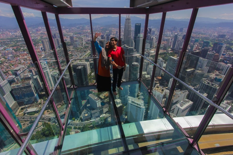 On The Menara Kuala Lumpur Observation Deck