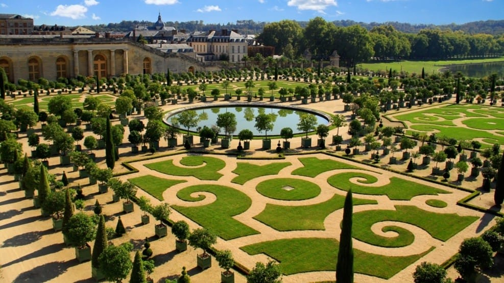 Gardens at the Palace of Versailles in France