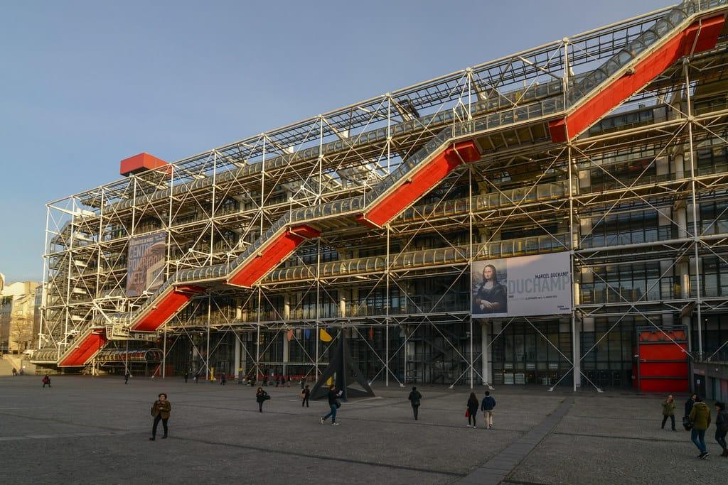 The Centre Pompidou - Historical Places in Paris
