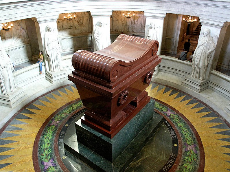 The Tomb of Napoleon Bonaparte in Les Invalides, Paris, France