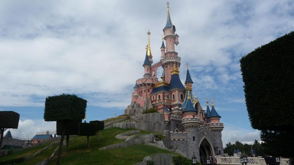 Visitors in Euro Disneyland, Paris