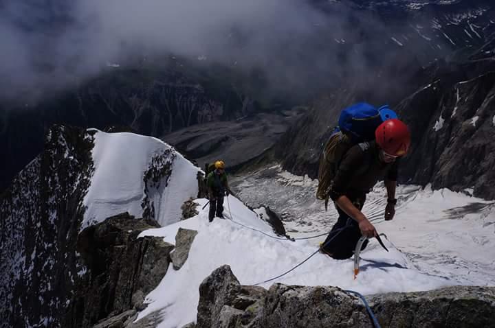 Ascending Mont Blanc, France