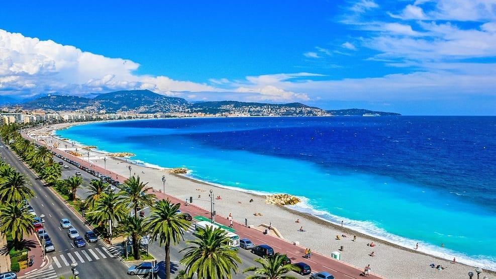 Promenade des Anglais Beach in Nice